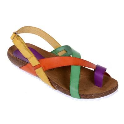 Sandale Romane din piele naturala colorata - Romelia