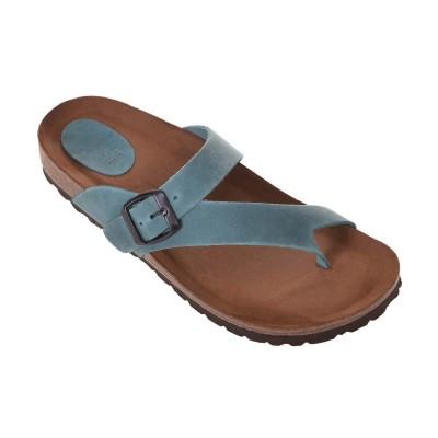 Sandale Romane din piele naturala albastra - Taipa