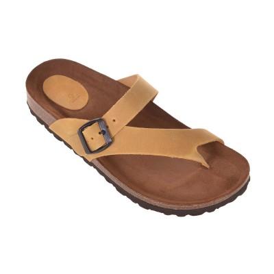 Sandale Romane din piele naturala galbena - Taipa