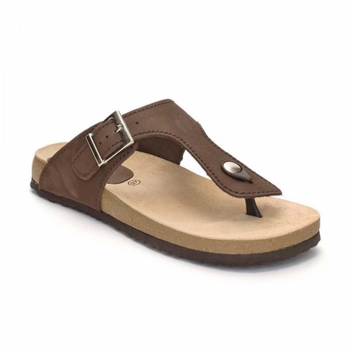 Sandale din Piele Naturala Maro - Nura