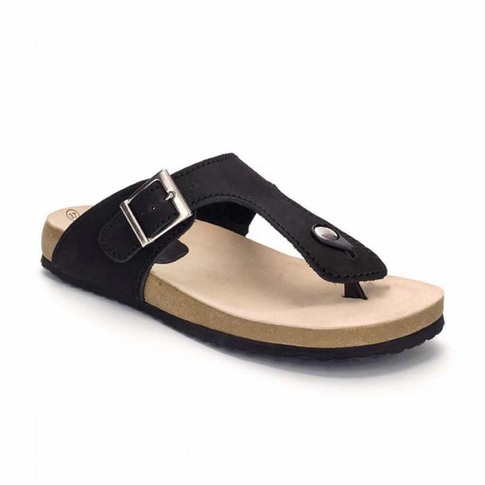 Sandale din Piele Naturala Neagra - Oriana