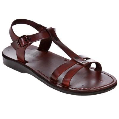 Sandale Romane din piele naturala Maro - Edena