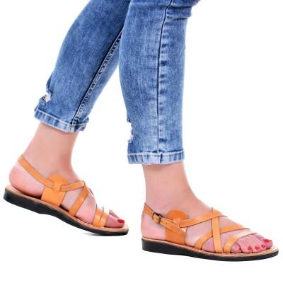 Sandale Romane din piele naturala Camel - Callia