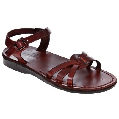 Sandale Romane din piele naturala Maro - Dorotea