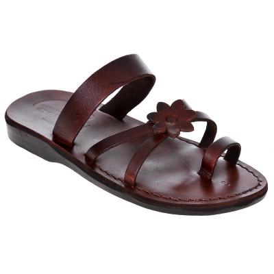 Sandale Romane din piele naturala Maro - Vera