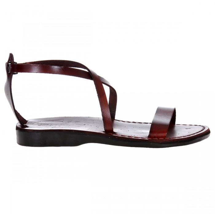 Sandale Romane din piele naturala Maro - Zaira