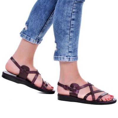Sandale Romane Unisex din piele naturala Mov - Adonia
