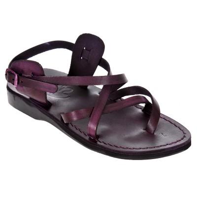 Sandale Romane Unisex din piele naturala Mov - Kasia