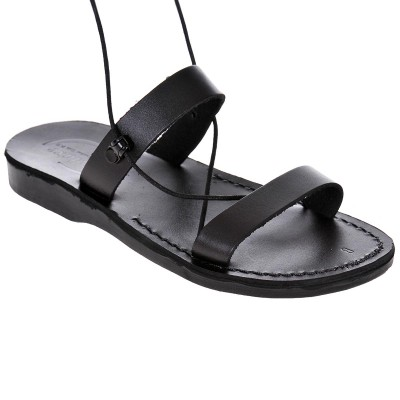 Sandale Romane din piele naturala Neagra - Taisa