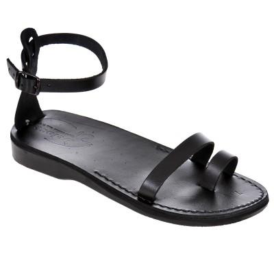 Sandale Romane din piele naturala Neagra - Victoria