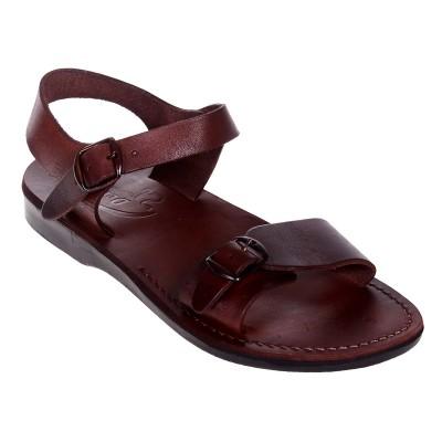 Sandale Romane Unisex din piele naturala Maro - Arko