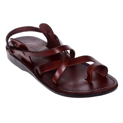 Sandale Romane Unisex din piele naturala Maro - Diony
