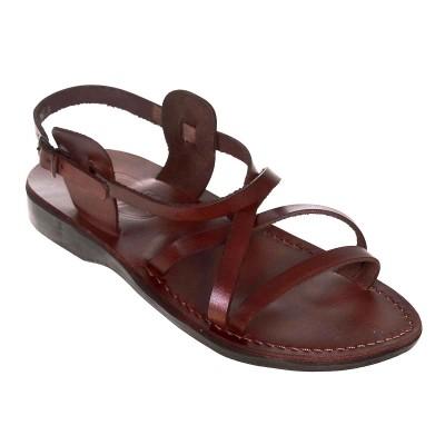 Sandale Romane Unisex din piele naturala Maro - Judy