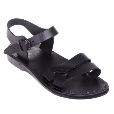 Sandale Romane Unisex din piele naturala Neagra - Iulius