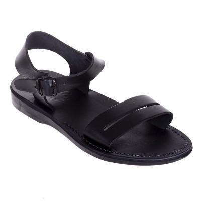 Sandale Romane Unisex din piele naturala Neagra - Kara