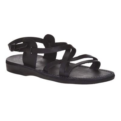 Sandale Romane Unisex din piele naturala Neagra - Mefisto