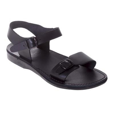 Sandale Romane Unisex din piele naturala Neagra - Rowan