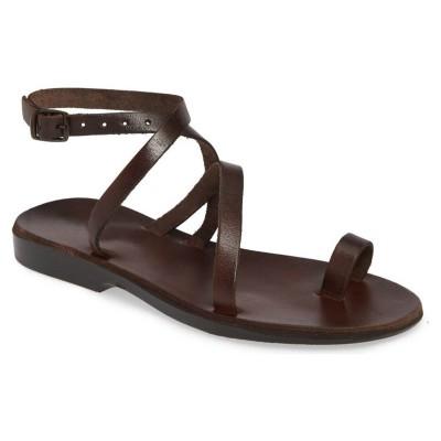Sandale Romane Piele Naturala Maro - Verna
