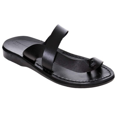 Sandale Romane din piele naturala Neagra - Greta