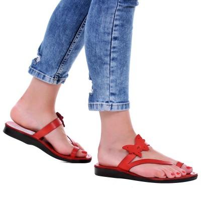 Sandale Romane din piele naturala Rosie - Berta