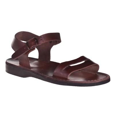 Sandale Romane Unisex din piele naturala Maro - Amos