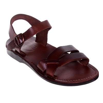 Sandale Romane Unisex din piele naturala Maro - Argo