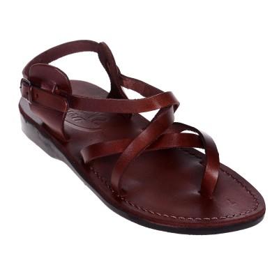Sandale Romane Unisex din piele naturala Maro - Athos