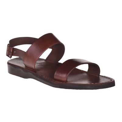 Sandale Romane Unisex din piele naturala Maro - Enzo