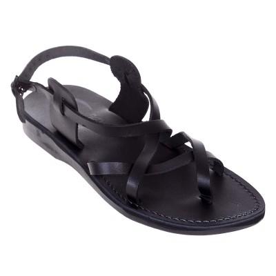 Sandale Romane Unisex din piele naturala Neagra - Achim