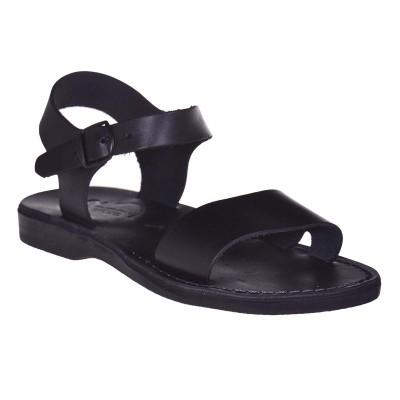 Sandale Romane Unisex din piele naturala Neagra - Alby