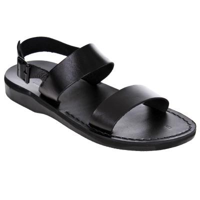 Sandale Romane Unisex din piele naturala Negra - Columbo