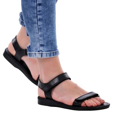 Sandale Romane Unisex din piele naturala Neagra - Denis