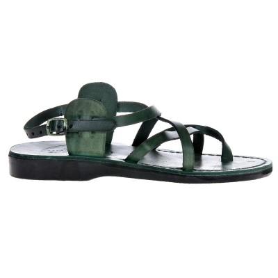 Sandale Romane din piele naturala Verde - Zora