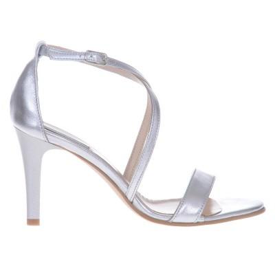 Sandale Dama Piele Naturala Argintie - Cod N113