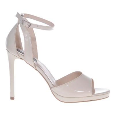 Sandale Dama Piele Naturala Lacuita Nude - Cod N114