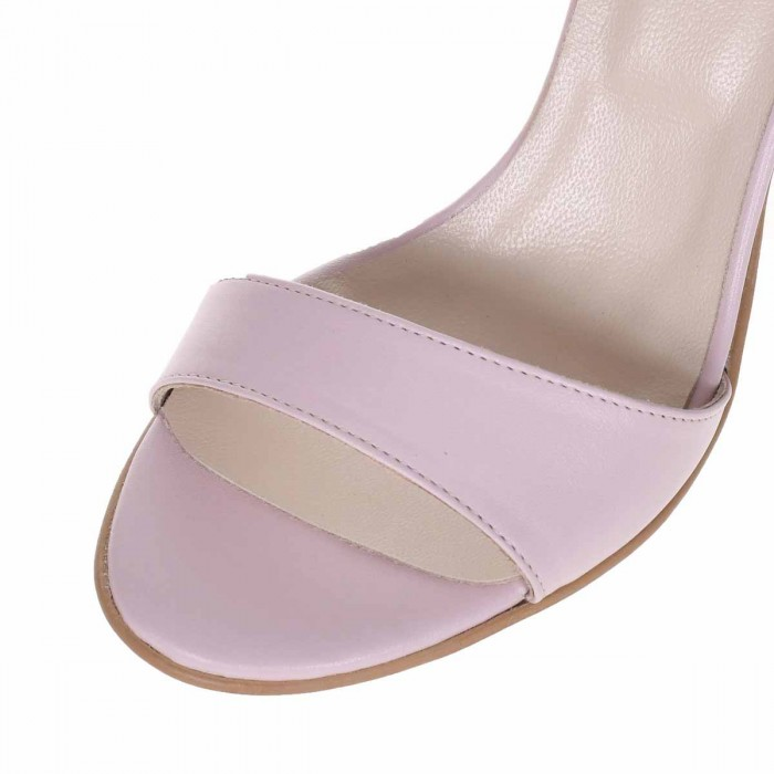 Sandale Dama de ocazie Piele Naturala Roz Pal - Cod N155
