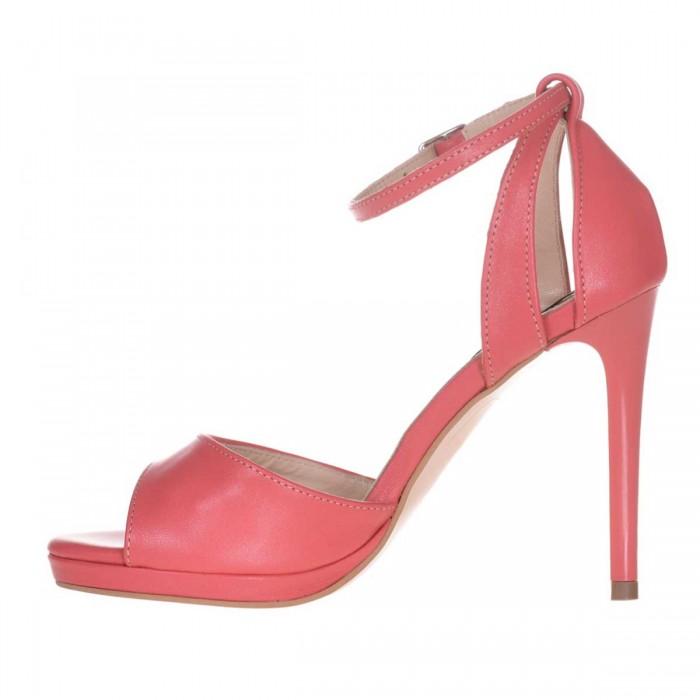 Sandale Dama Piele Naturala Corai - Cod N35