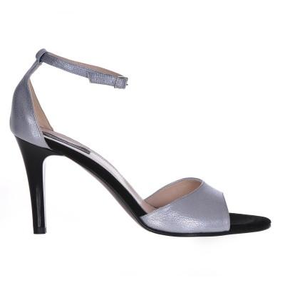 Sandale Dama Piele Naturala Argintie - Cod N28