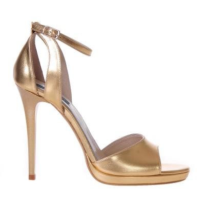 Sandale Dama Piele Naturala Aurie - Cod N45
