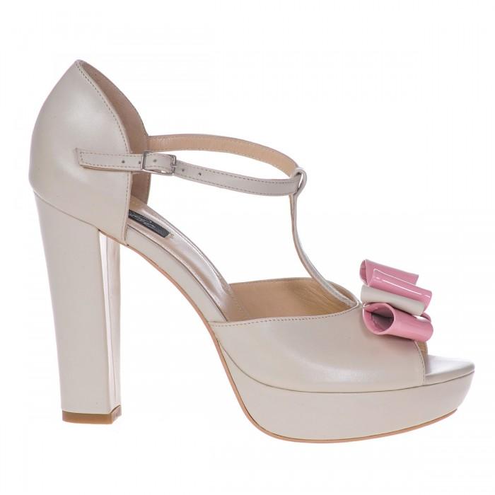 Sandale Dama Piele Naturala Ivory- Cod N96