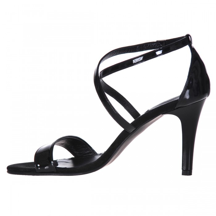 Sandale Dama Piele Naturala Lacuita Neagra - Cod N29