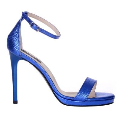 Sandale Dama Piele Naturala Albastru Electric - Cod N137