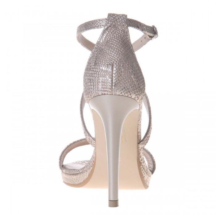 Sandale de Dama din Piele Naturala Cu Imprimeu de Sarpe- Cod N115