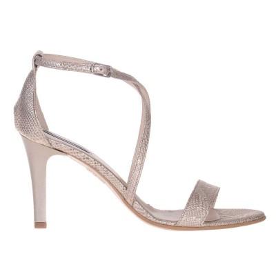 Sandale Dama din Piele Naturala Aurie- Cod N121