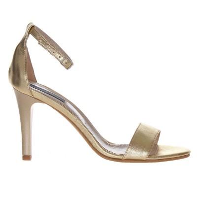 Sandale Dama Piele Naturala Aurie - Cod N70