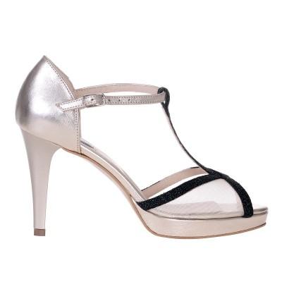 Sandale de Dama din Piele Naturala Aurie si Verde Cod - N128