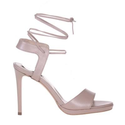 Sandale Dama Piele Naturala Bej Sidefat - Cod N126