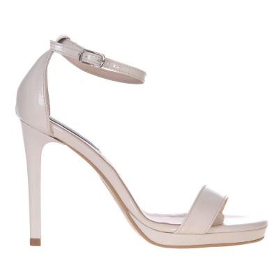 Sandale Dama Piele Naturala Lacuita Nude - Cod N58