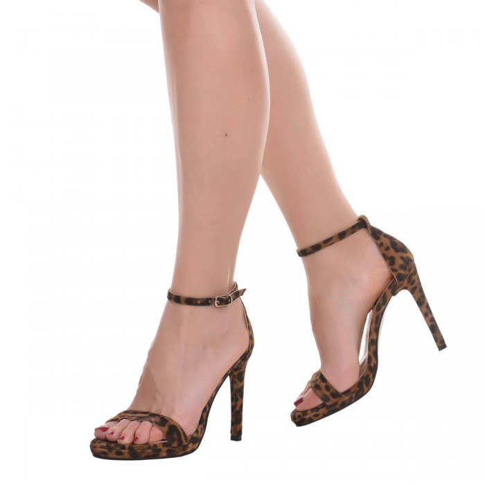 Sandale Dama Piele Naturala Animal Print - Cod N145