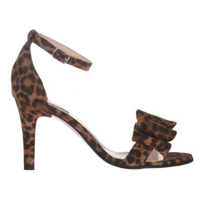 Sandale Dama Piele Naturala Intoarsa Animal Print - Cod N147